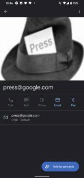 Google Kontakty vyhledávání 3