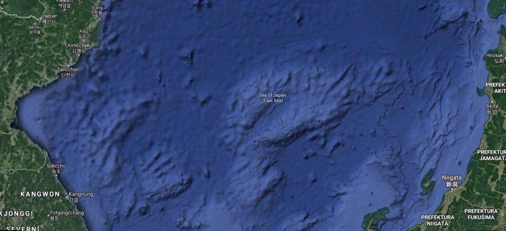 Google politické Mapy Japonské moře