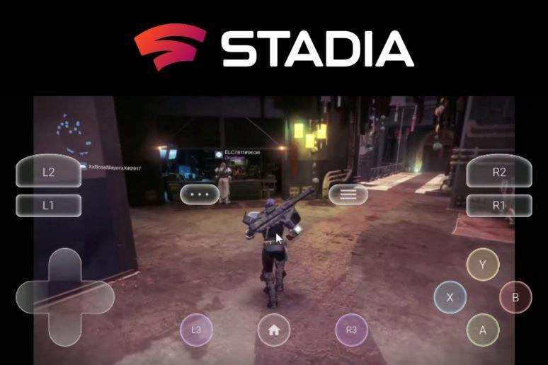 Google Stadia bez gamepadu TouchStadia