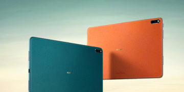 Huawei MatePad Pro green and orange