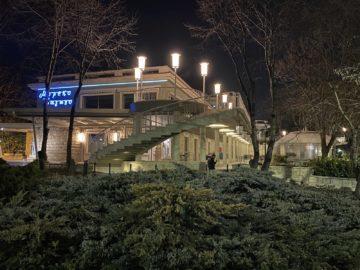 iPhone 11 Pro Max noční budova