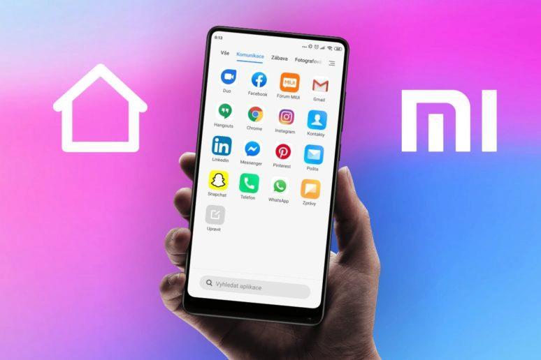jak zapnout nabídku aplikací Xiaomi telefon