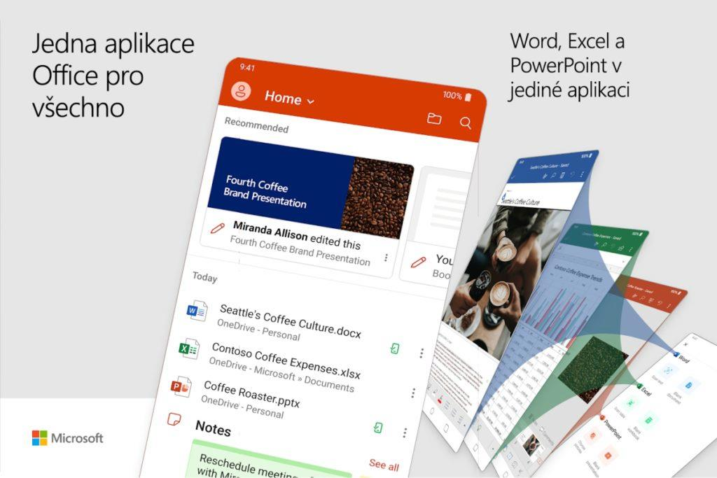 Microsoft Office Android Word Excel Powerpoint náhled