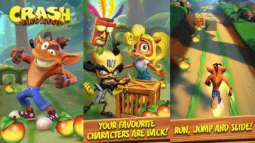 mobilní hra Crash Bandicoot 3