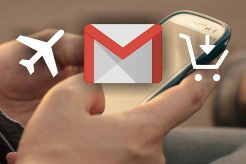 nové kategorie Gmail Travel Cestování Purchase Objednávky