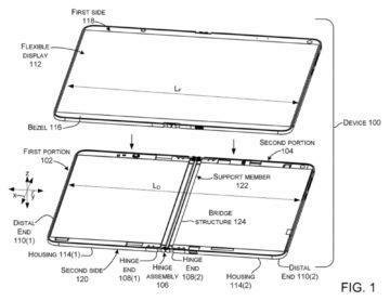 ohebný displej Microsoft Surface patent 1