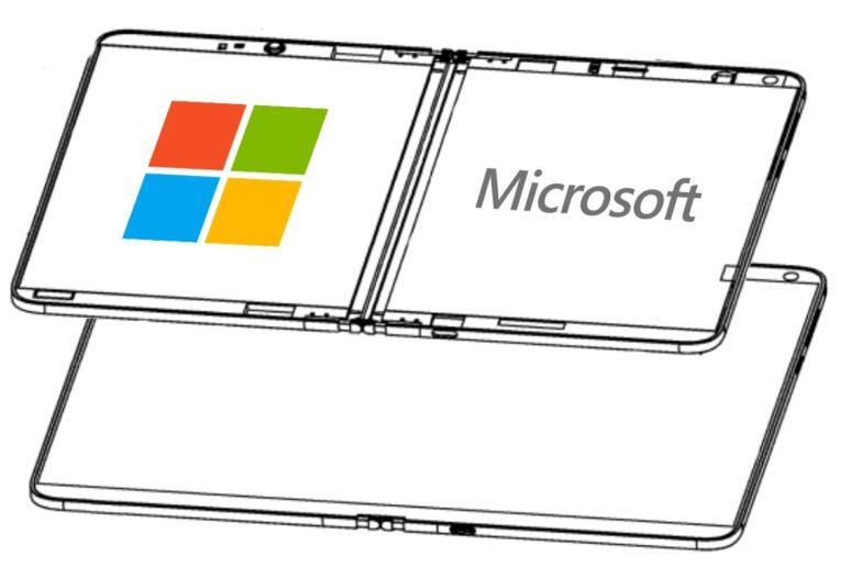ohebný displej patent Microsoft Surface