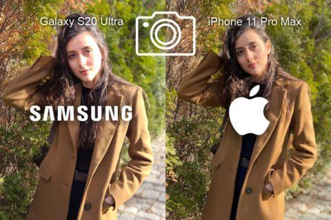 porovnání fotoaparátů Samsung Galaxy S20 Ultra iPhone 11 Pro Max