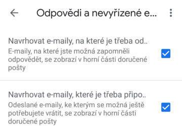 připomenutí pošty gmail