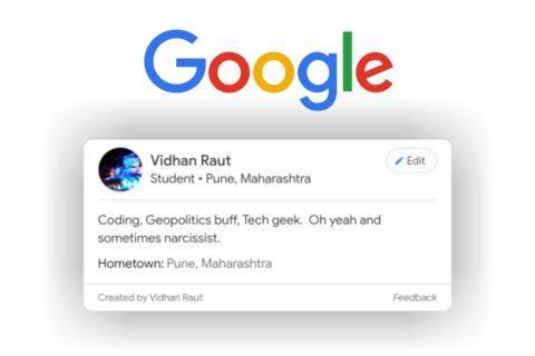 profilové karty Google vyhledávání