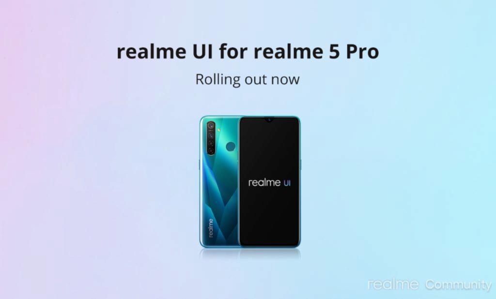 Realme 5 Pro Realme UI Android 10 update