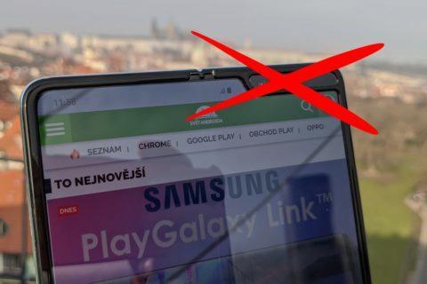 Samsung Galaxy Fold 2 neviditelná přední kamera