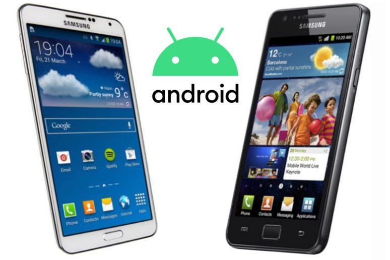 Samsung Galaxy S II Note 3 Android 10
