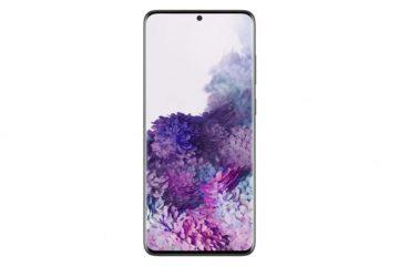 Samsung Galaxy S20+ front black