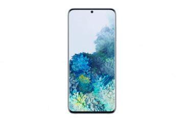Samsung Galaxy S20 front blue