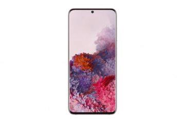 Samsung Galaxy S20 front pink