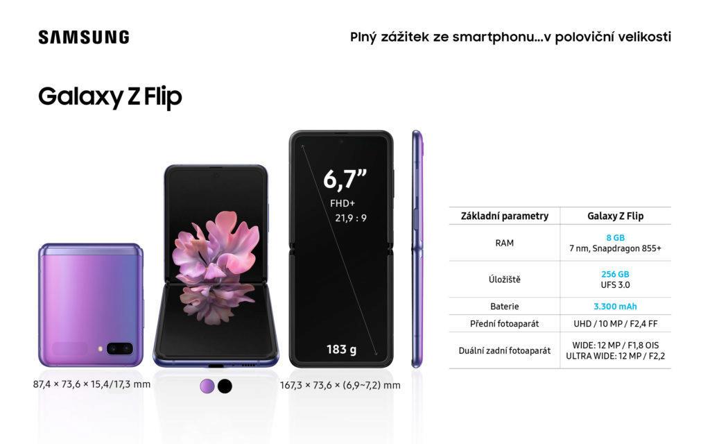 Samsung Z Flip specifikace
