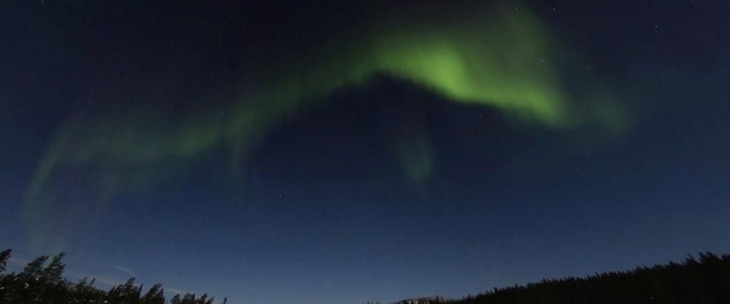 Street View polární záře Pitkäjärvi