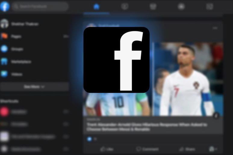tmavý režim Facebook desktop sirsi testovani