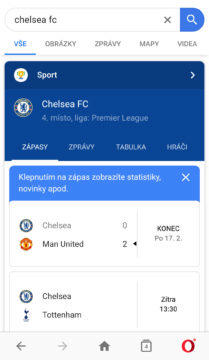 výsledky premier league
