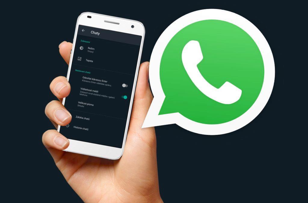WhatsApp beta tmavý režim návod