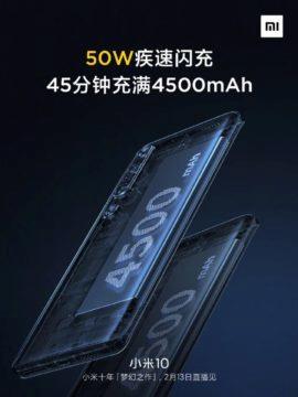 Xiaomi Mi 10 baterie