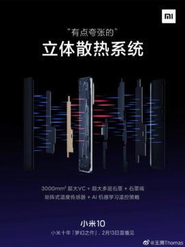Xiaomi Mi 10 chlazení 2