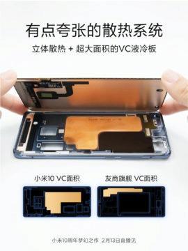 Xiaomi Mi 10 chlazení
