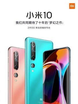 Xiaomi Mi 10 plakát