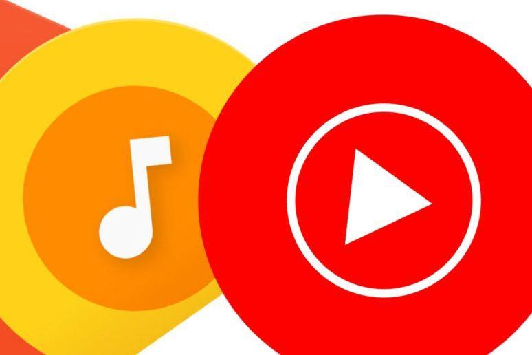 YouTube Google Play Music přehrávání lokálních skladeb