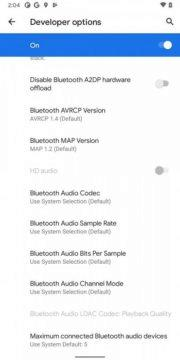 Android 11 Developer Preview 2 Bluetooth HD audio