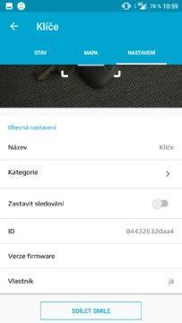 Aplikace Fixed Smile nastavení profilu