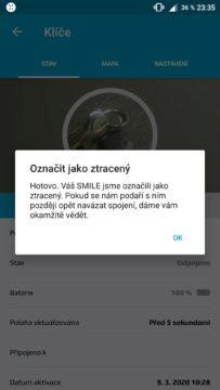 Aplikace Fixed Smile ztracený přívěsek