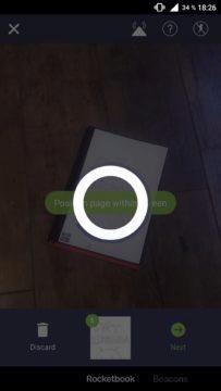 Aplikace Rocketbook ukládání