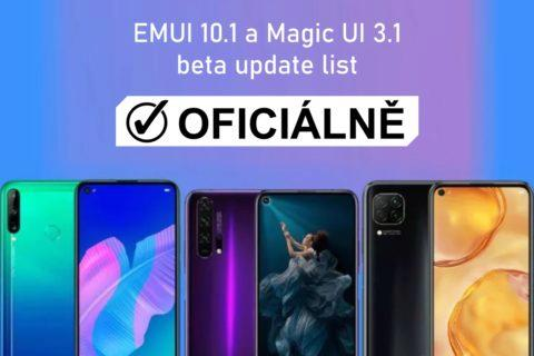 beta update EMUI 10.1 magic UI 3.1 oficiálně