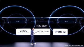 chytrá televize Mi TV 4S 65 zvuk