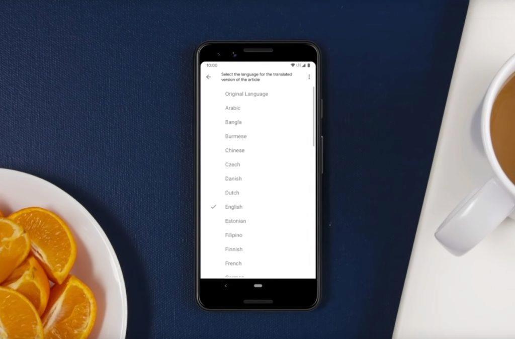 Google Asistent hlasité čtení webů jazyky