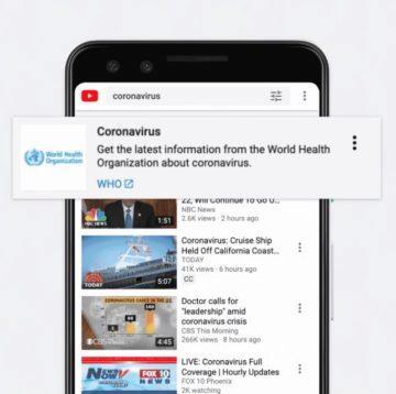 Google koronavirus YouTube hlavička