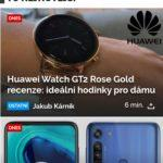 homepage Svět Androida náhled mobil