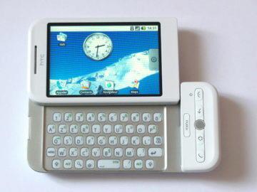 HTC Dream neměl přední fotoaparát