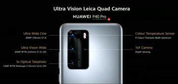Huawei P40 Pro fotoaparát specifikace