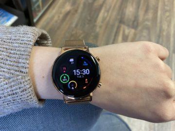 huawei růžové hodinky