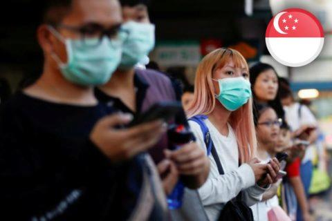 koronavirus aplikace Singapur