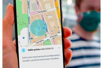 Mapy.cz koronavirus sledování