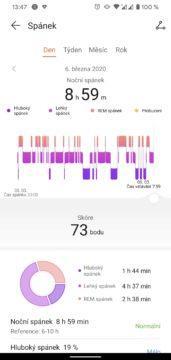 meření spánku huawei watch