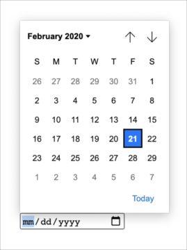nové formuláře Chromium kalendáře