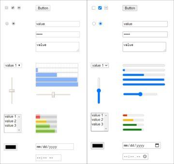 nové formuláře Chromium porovnání prvků