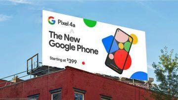 nový pixel telefon billboard