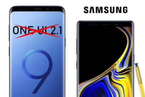 One UI update Galaxy S9 Note 9