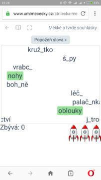 online procvičení češtiny